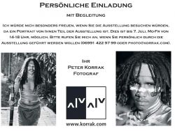 2010 BLACK And WHITE ARTIST PORTRAITS ART COM GALLERY WIEN EINLADUNG COLLECTORSEVENING1