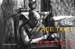 DALAI LAMA-FREE TIBET-ITS5TO12 2002