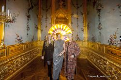 FRANCESCA VON HABSBURG WITH HER MOTHER FIONA AND HER DAUGHTER ELEONORE-OLAFUR ELIASSON BAROQUE VIENNA2016 1