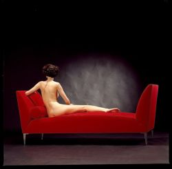 NUDE ON RED SOFA1